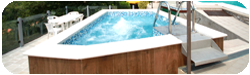 small outdoor jacuzzi pool